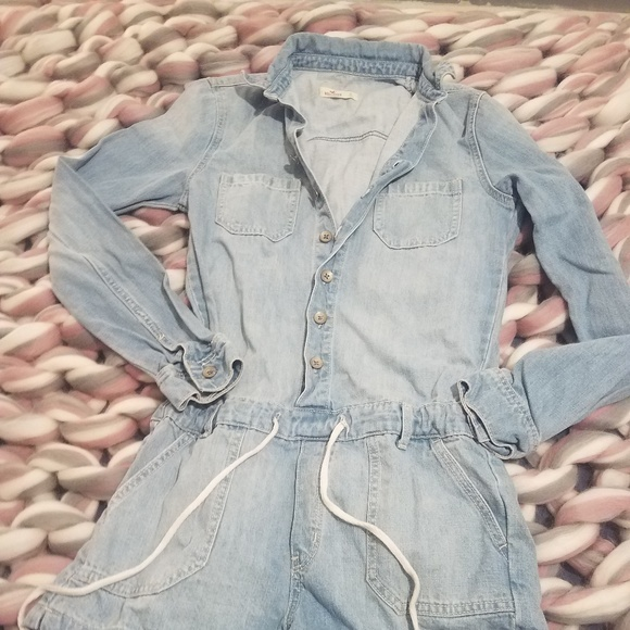 e0150a53861f1 Hollister Pants | Denim Romper | Poshmark